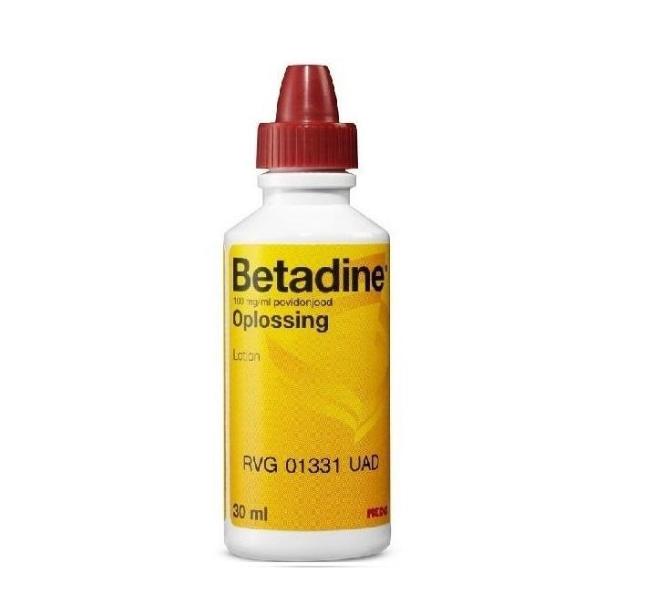 Betadine oplossing 30 ml. € 4.91