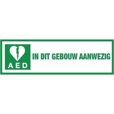 AED aanwezig sticker voor buiten 30x10 cm € 5.34