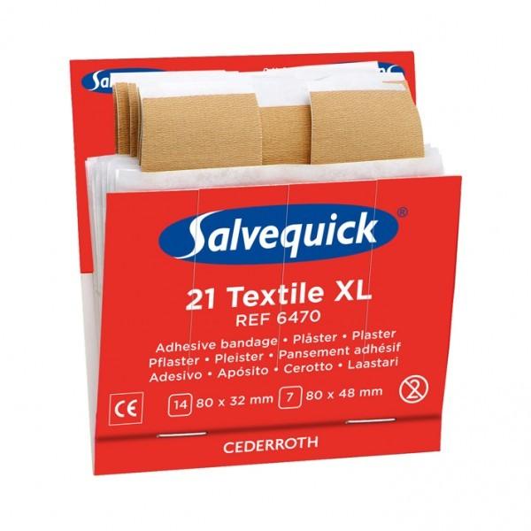1x Salvequick 6470 navulling 21 textiel pleisters XL € 5.58