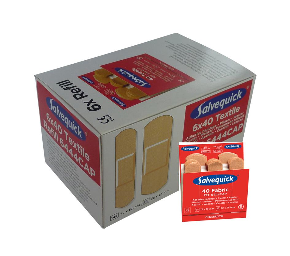 Salvequick 6pack - 6444 navulling 40 textiel pleisters € 27.56
