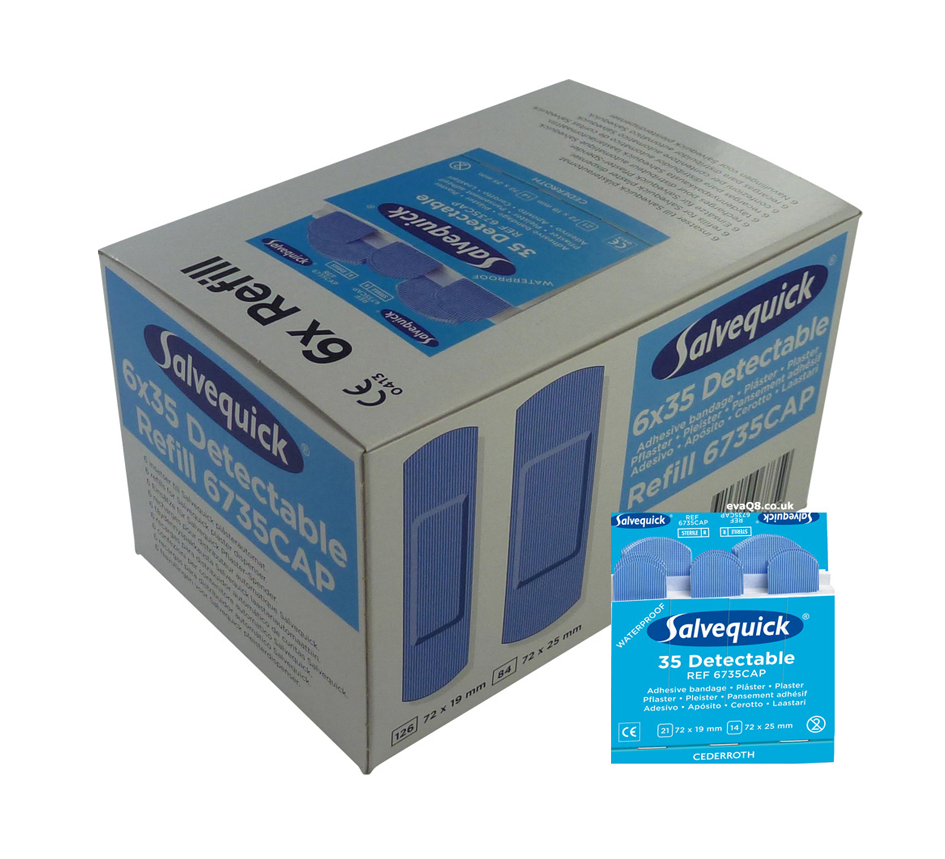 Salvequick 6pack - 6735 navulling 35 blauwe pleisters € 48.93