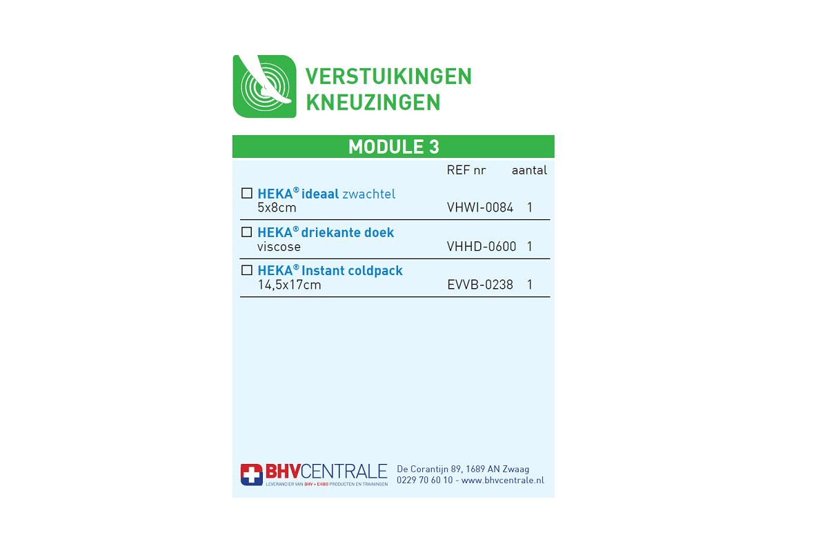 Navulling modulekoffer - module 3, verstuikingen - kneuzingen € 8.57